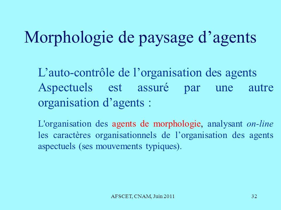 Morphologie de paysage d'agents