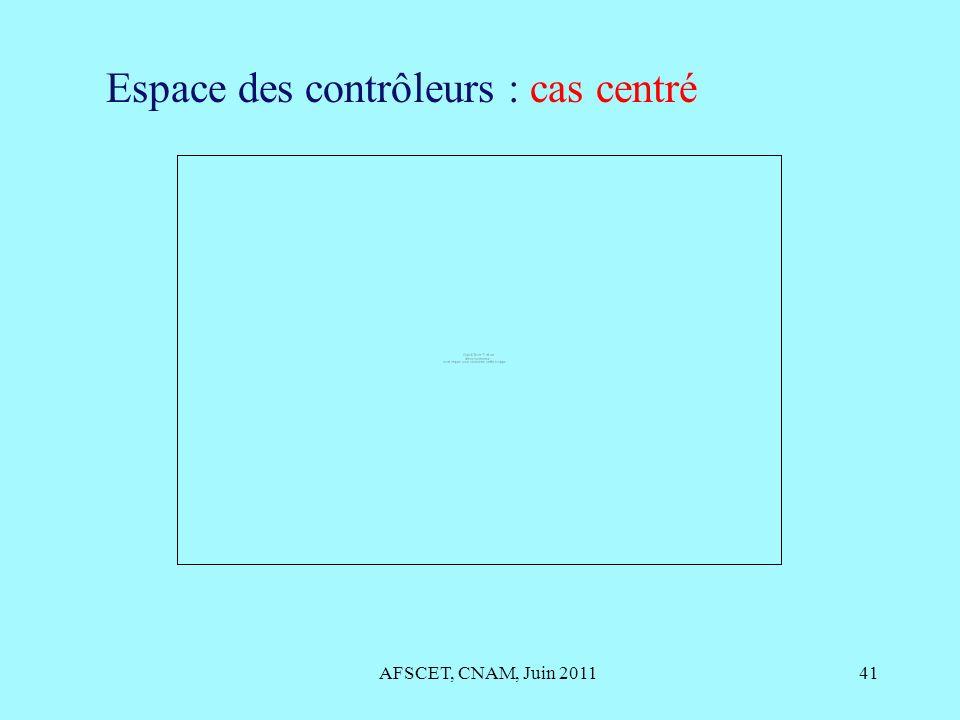 Espace des contrôleurs : cas centré