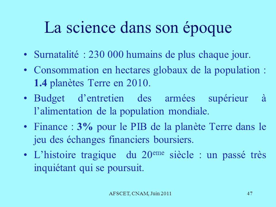 La science dans son époque