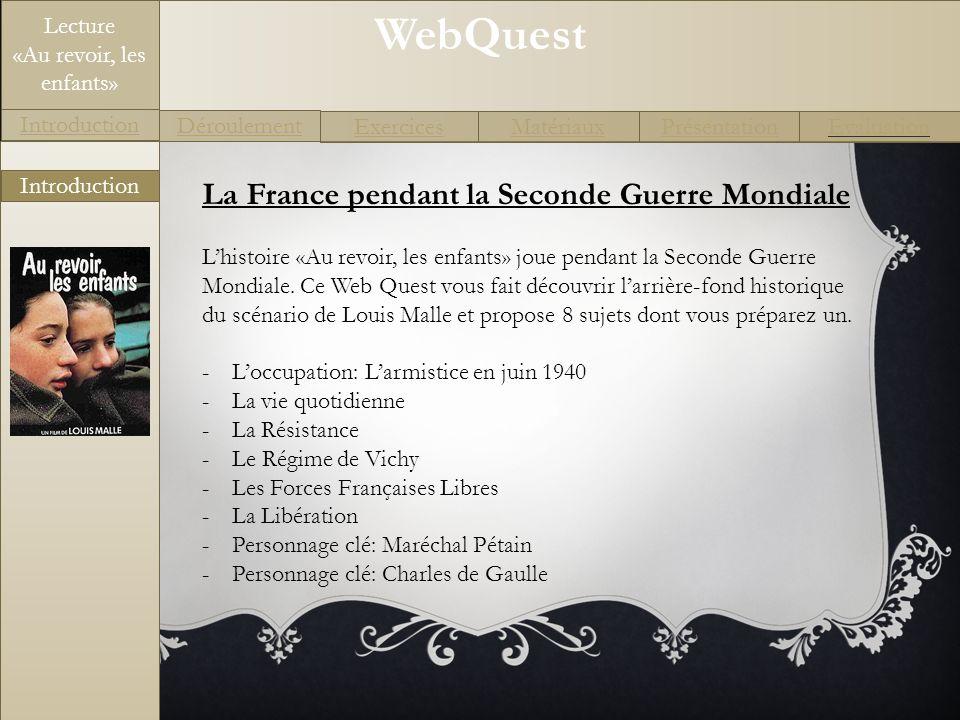 La France pendant la Seconde Guerre Mondiale