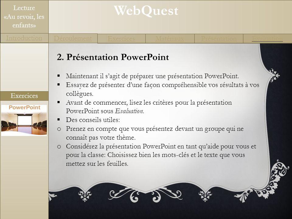 2. Présentation PowerPoint