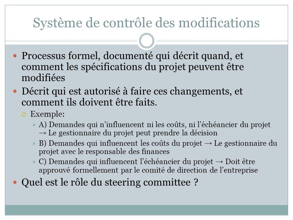 Système de contrôle des modifications