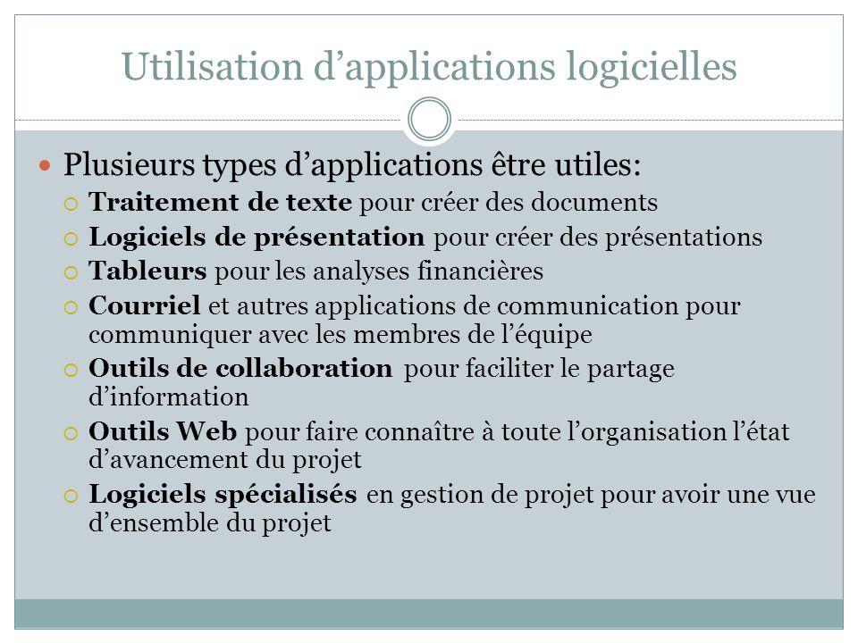 Utilisation d'applications logicielles