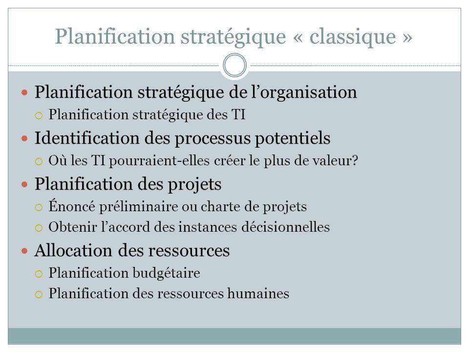 Planification stratégique « classique »