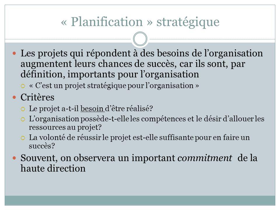 « Planification » stratégique