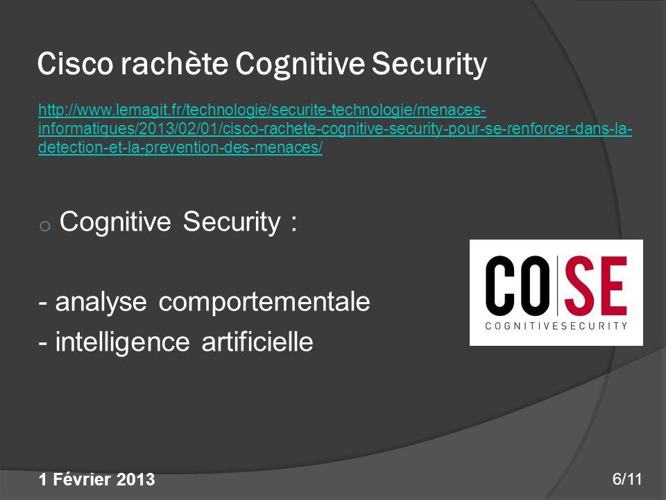 Cisco rachète Cognitive Security