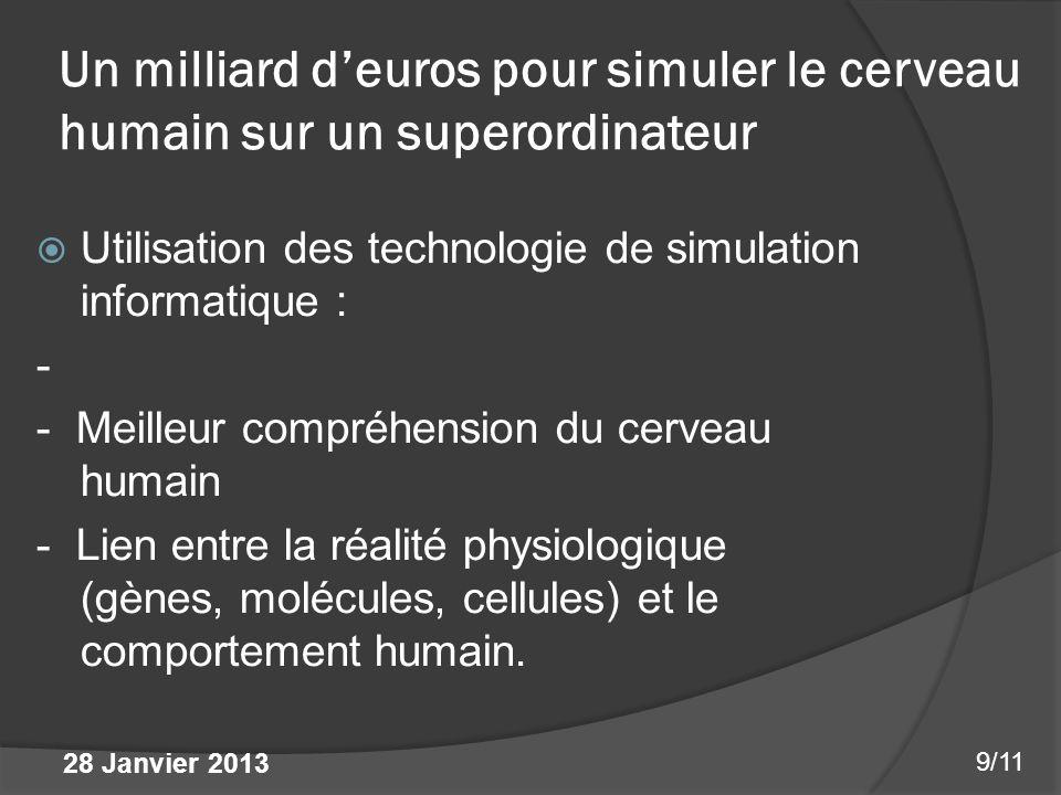 Un milliard d'euros pour simuler le cerveau humain sur un superordinateur