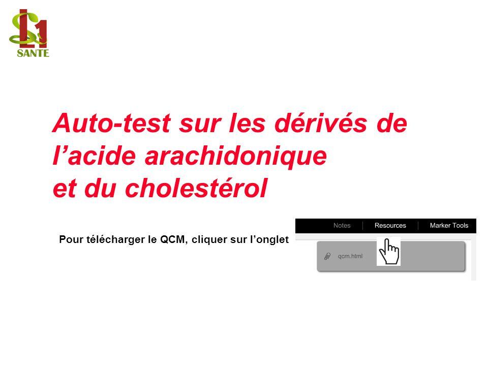Auto-test sur les dérivés de l'acide arachidonique et du cholestérol