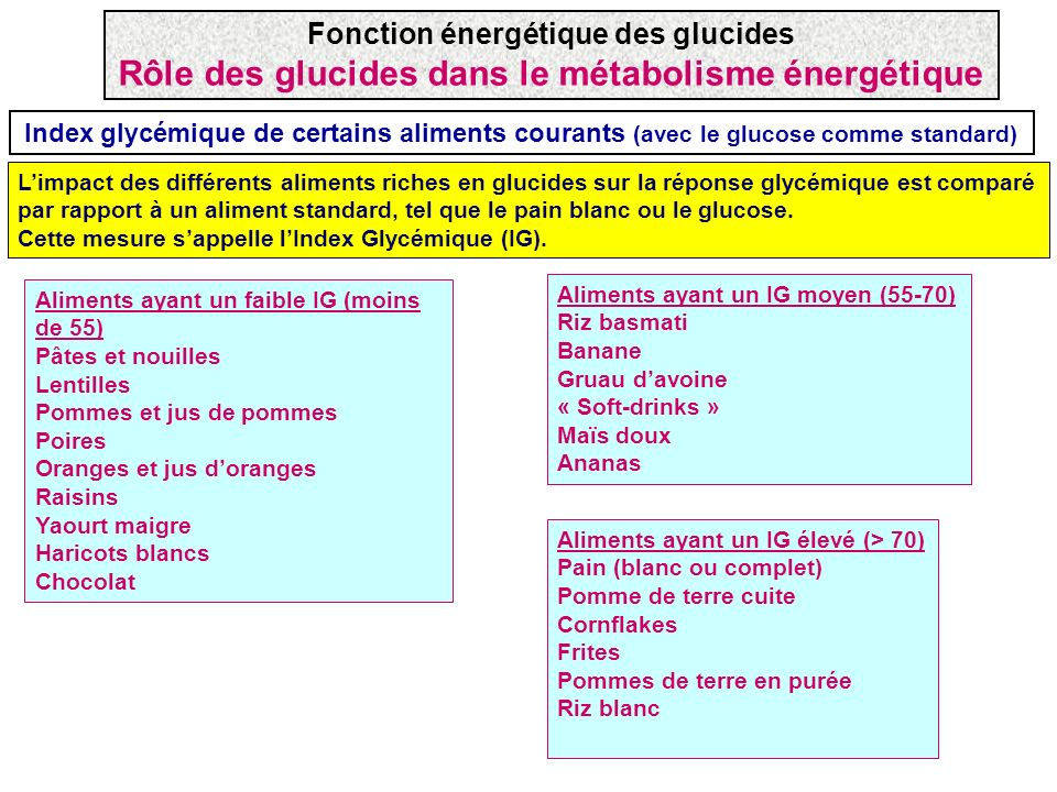 R le nerg tique des glucides glycolyse et n oglucogen se ppt t l charger - Les aliments riches en glucides ...