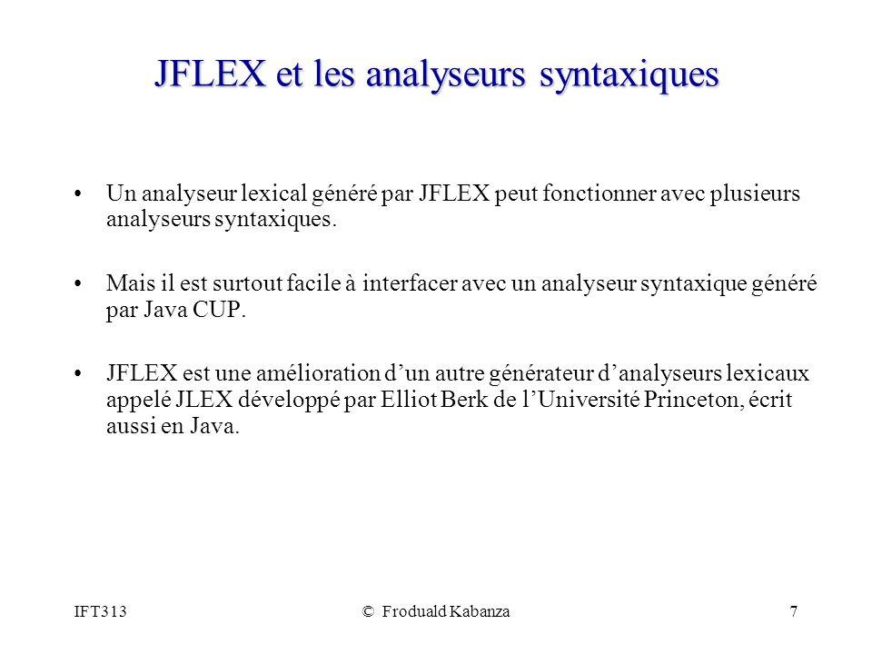 JFLEX et les analyseurs syntaxiques