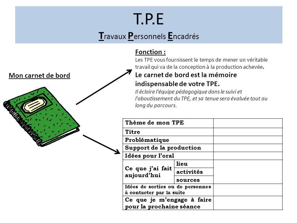 Super T.P.E Travaux Personnels Encadrés - ppt video online télécharger TH82