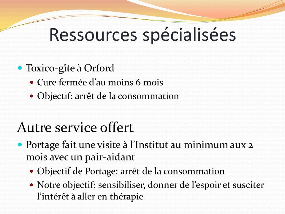 Ressources spécialisées
