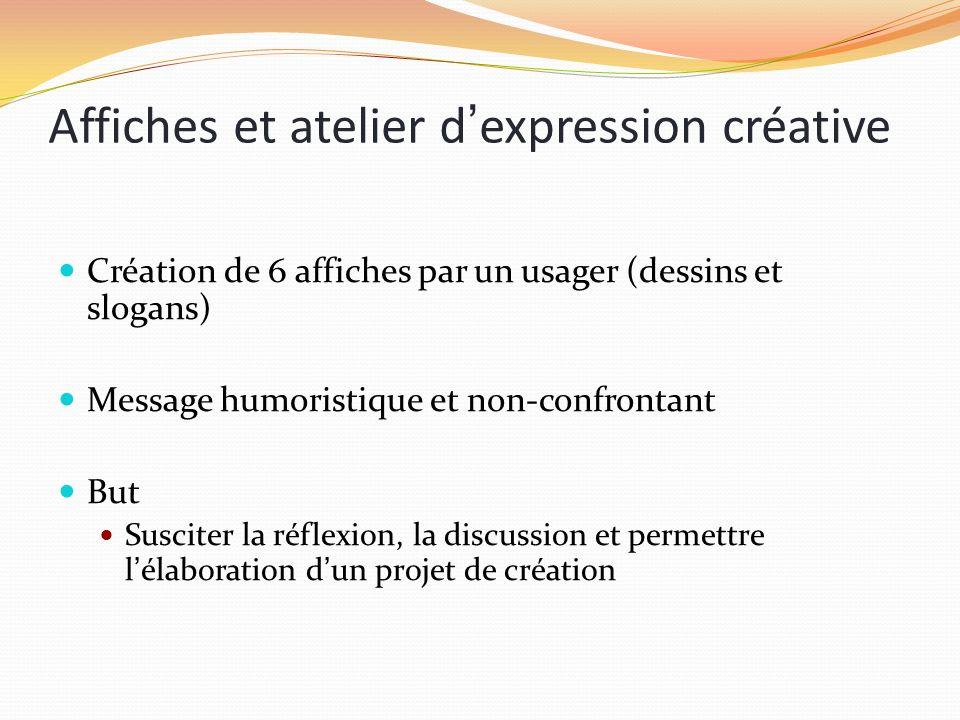 Affiches et atelier d'expression créative
