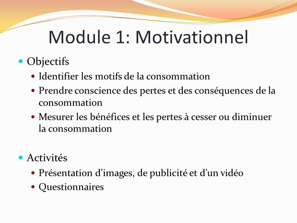 Module 1: Motivationnel