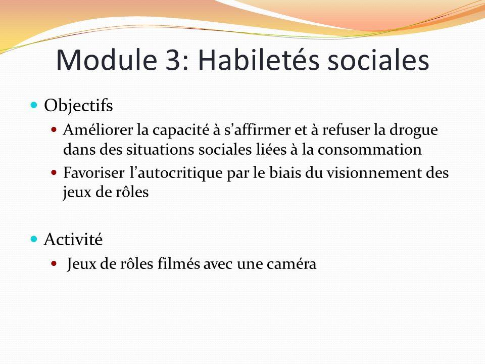 Module 3: Habiletés sociales