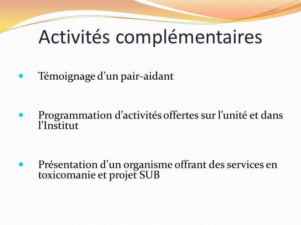 Activités complémentaires