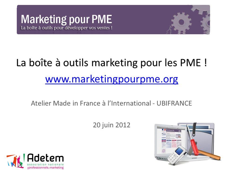 La boîte à outils marketing pour les PME ! www.marketingpourpme.org