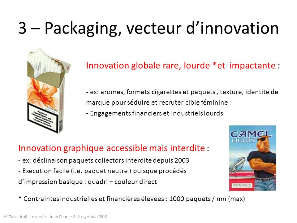 3 – Packaging, vecteur d'innovation