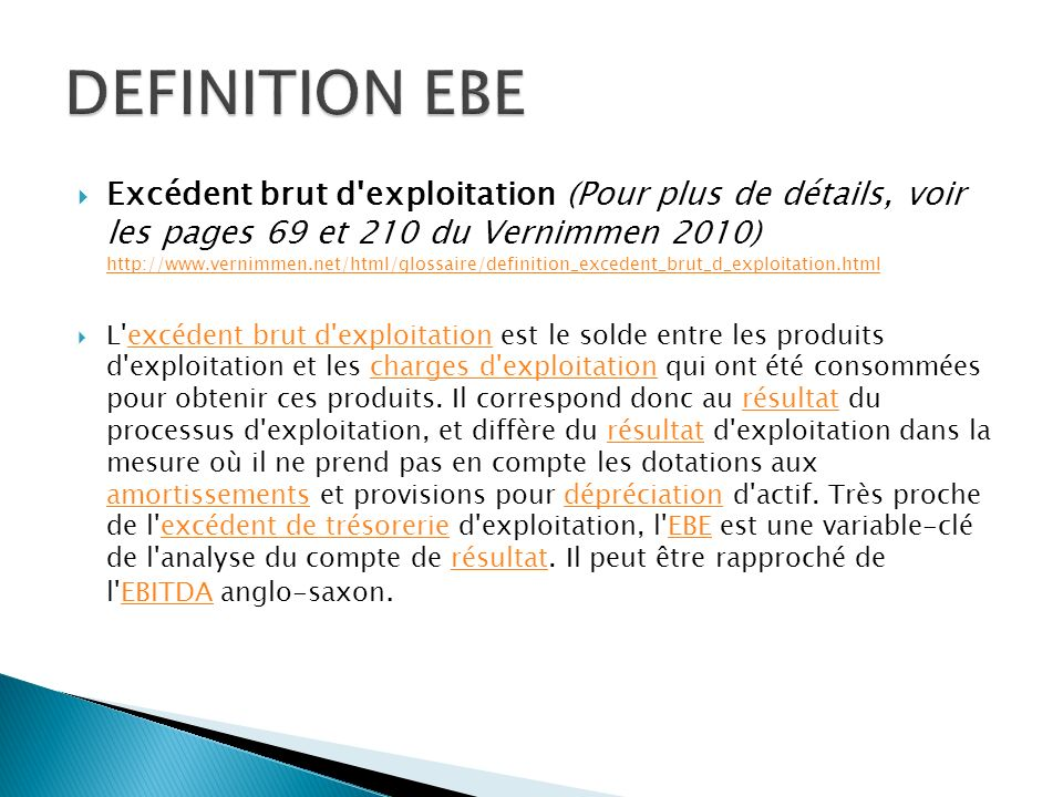 DEFINITION EBE
