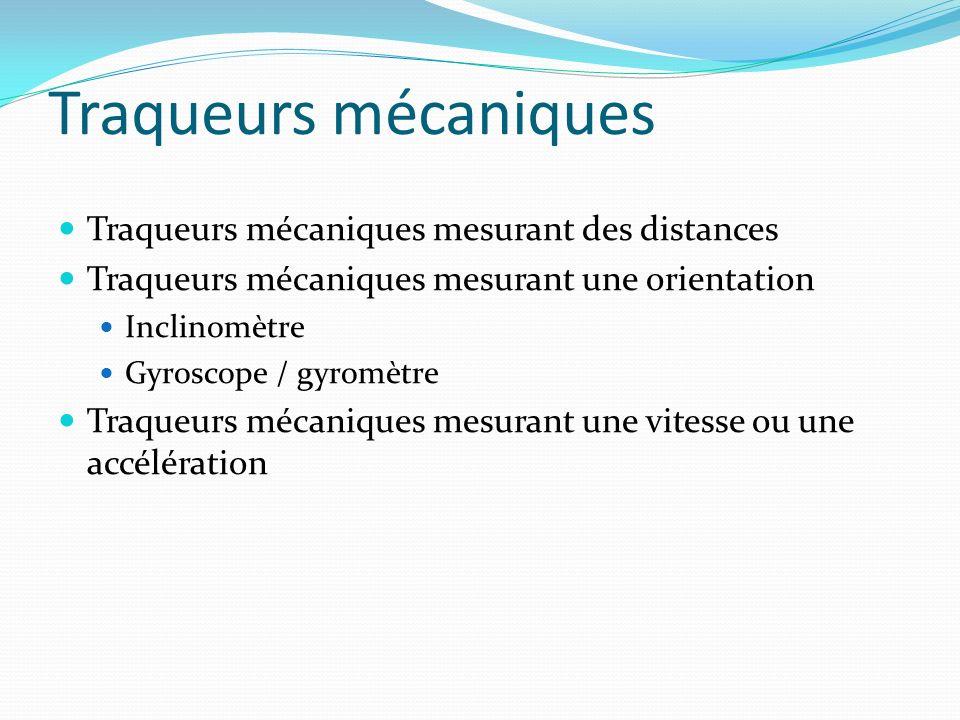 Traqueurs mécaniques Traqueurs mécaniques mesurant des distances