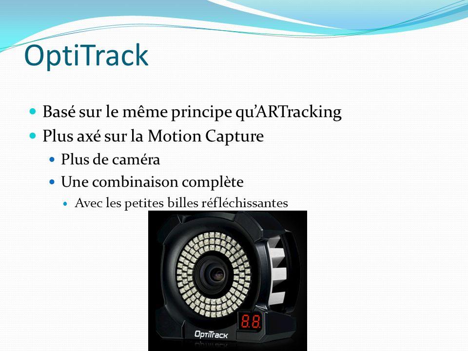 OptiTrack Basé sur le même principe qu'ARTracking