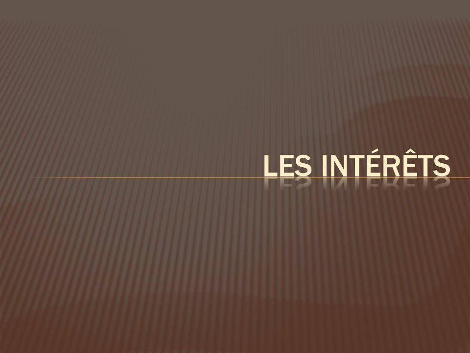 Les intérêts