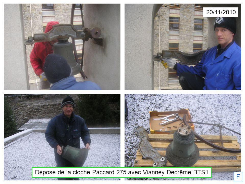 Dépose de la cloche Paccard 275 avec Vianney Decrême BTS1