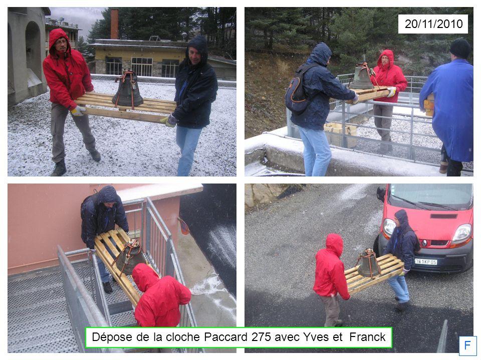 Dépose de la cloche Paccard 275 avec Yves et Franck