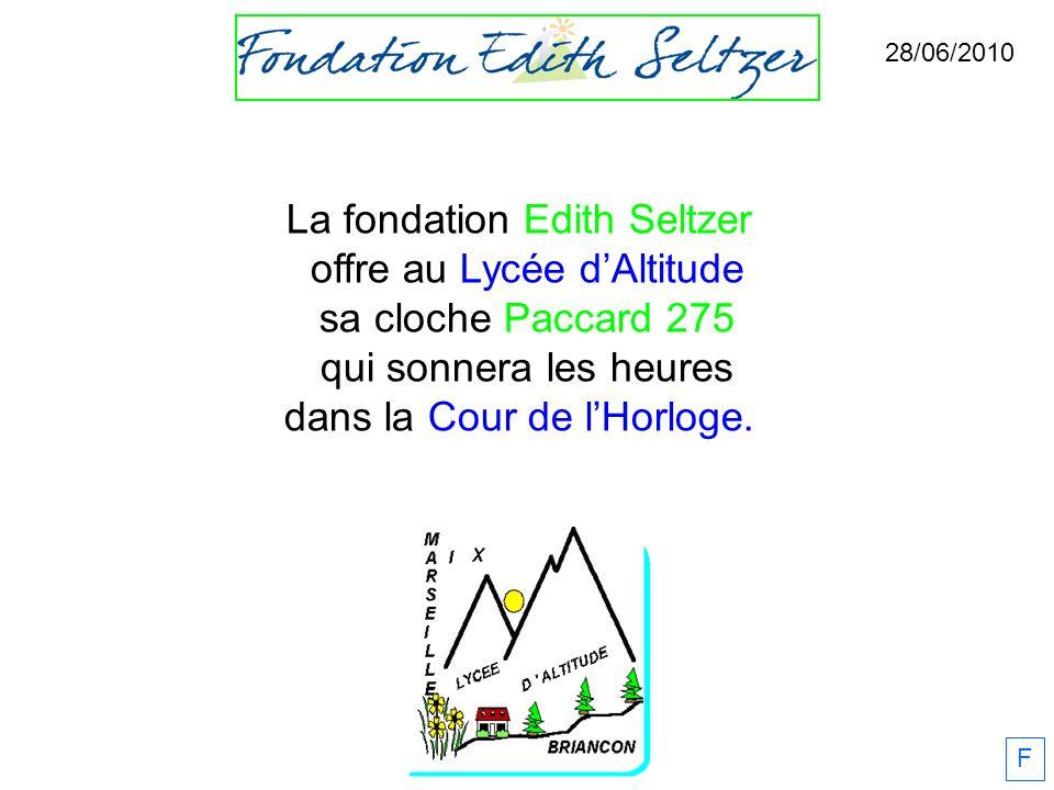 La fondation Edith Seltzer offre au Lycée d'Altitude