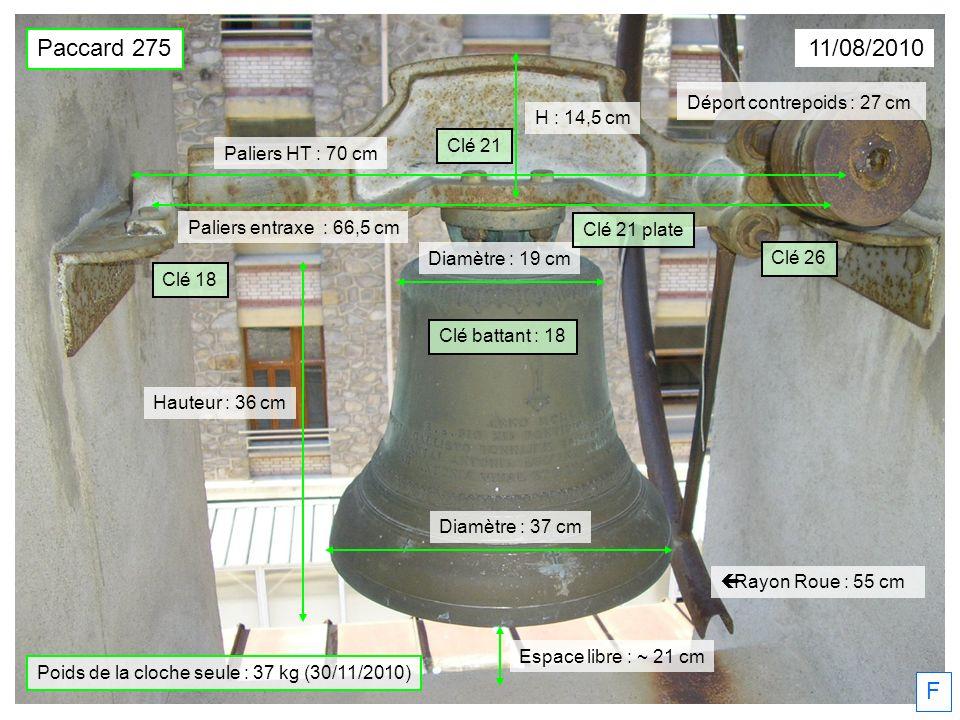 Poids de la cloche seule : 37 kg (30/11/2010)