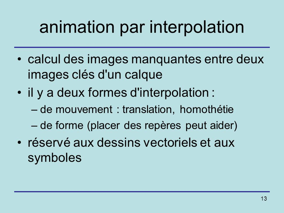animation par interpolation
