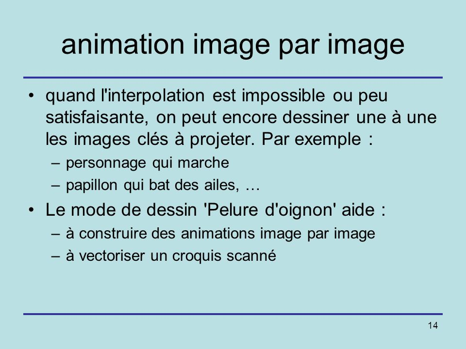 animation image par image