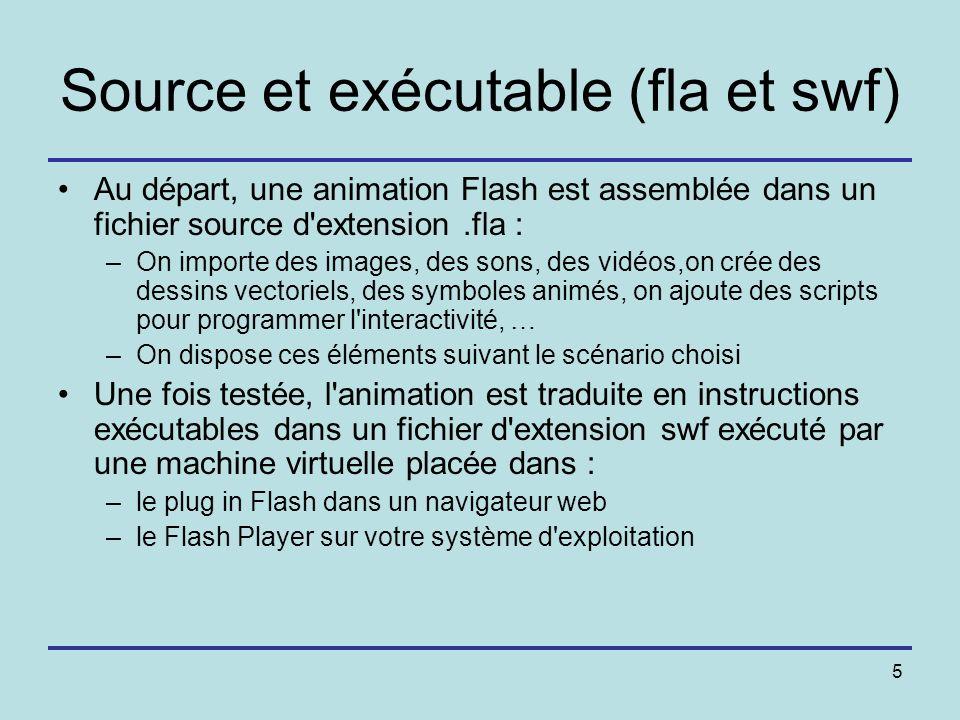 Source et exécutable (fla et swf)