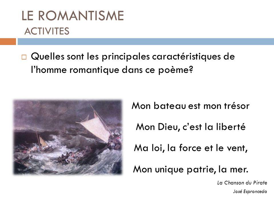LE ROMANTISME ACTIVITES