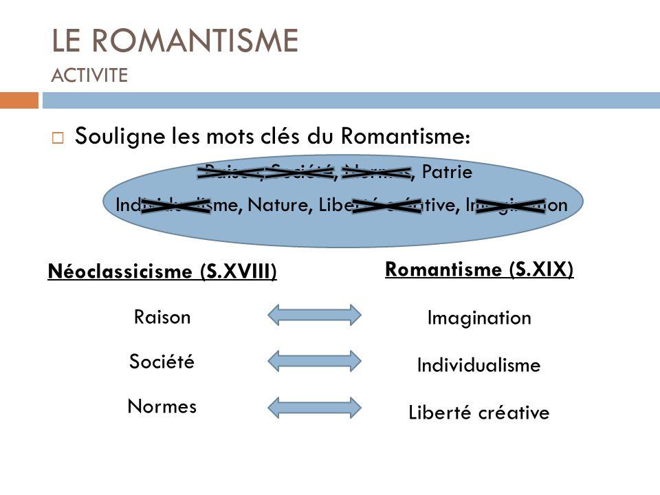 LE ROMANTISME ACTIVITE