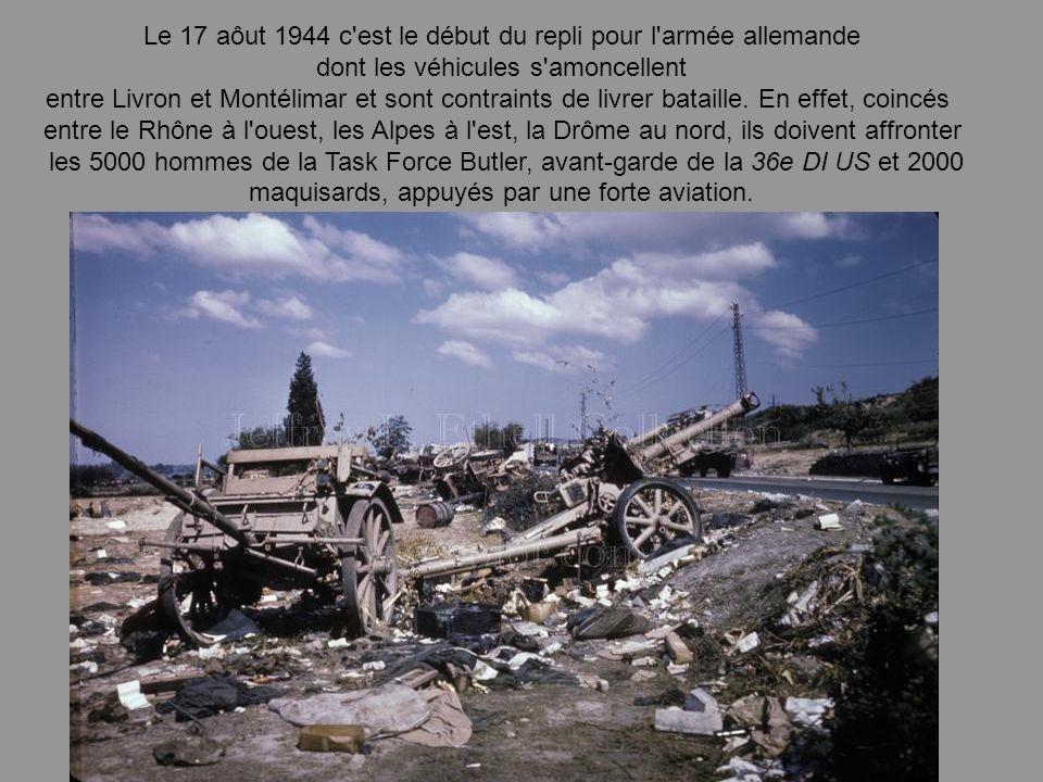 Le 17 aôut 1944 c est le début du repli pour l armée allemande