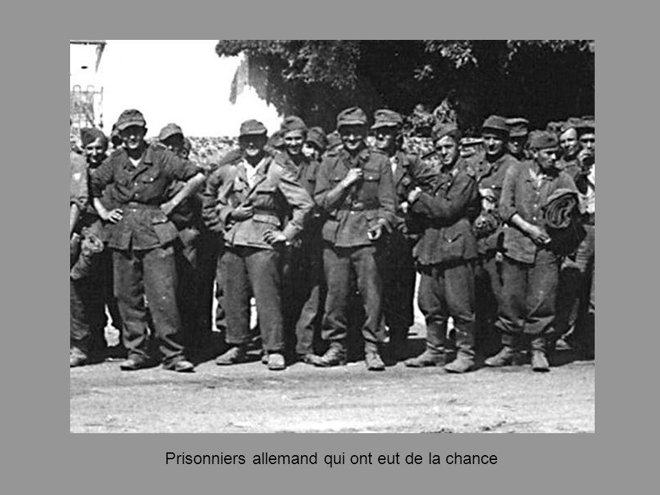 Prisonniers allemand qui ont eut de la chance