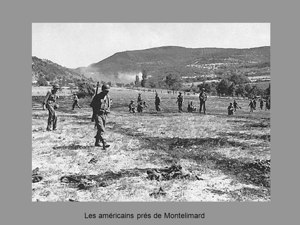Les américains prés de Montelimard