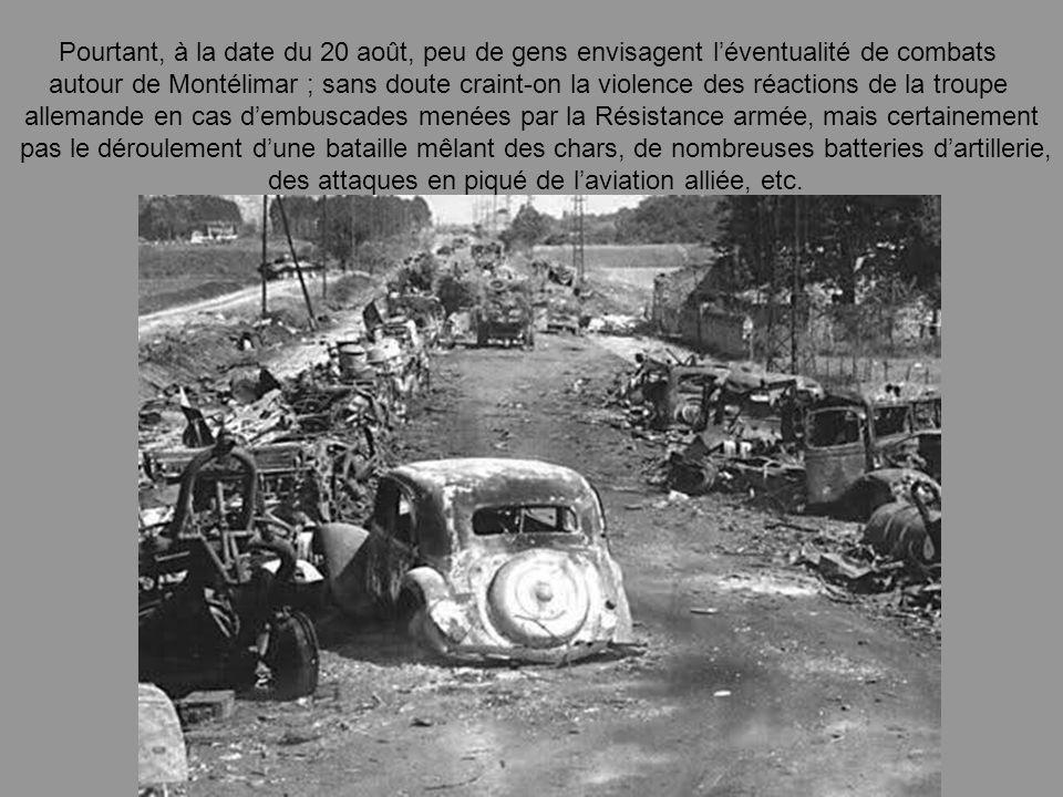 des attaques en piqué de l'aviation alliée, etc.