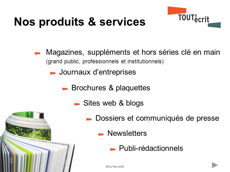 Nos produits & services