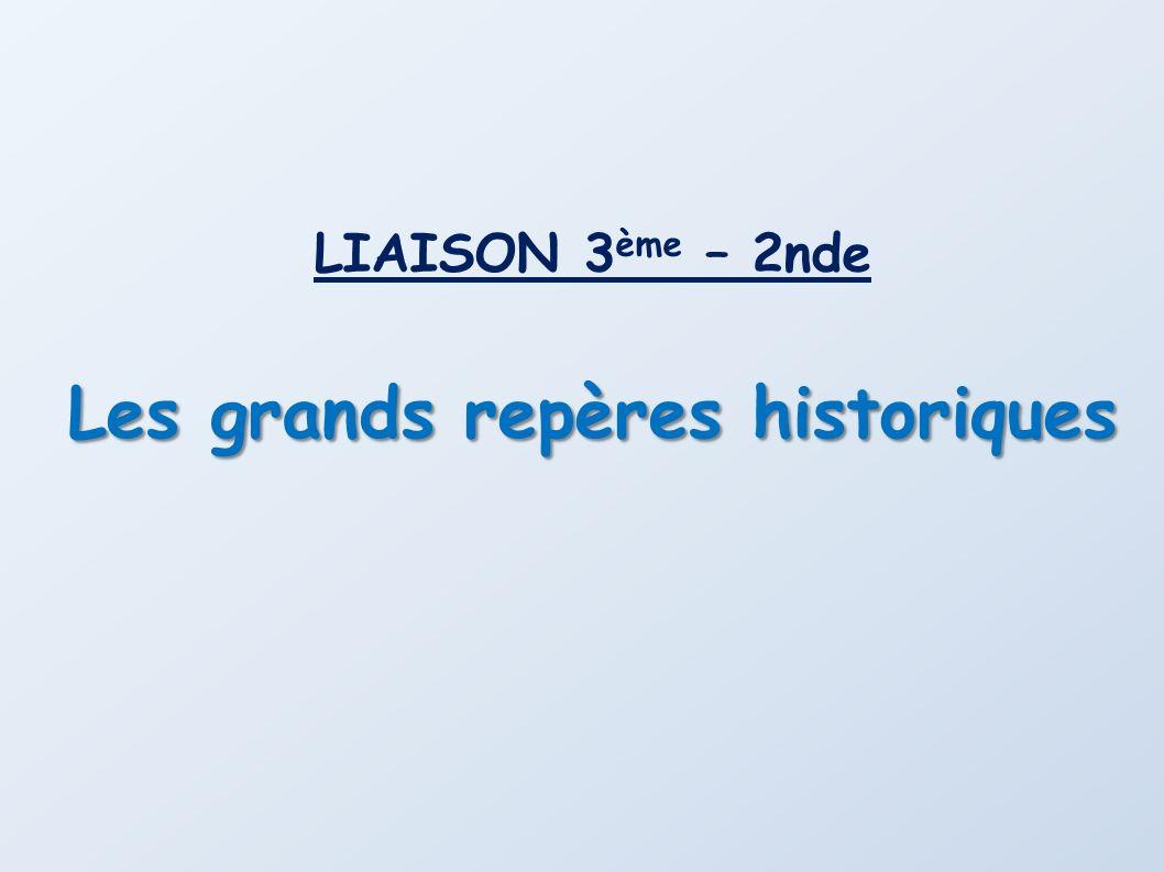 Les grands repères historiques