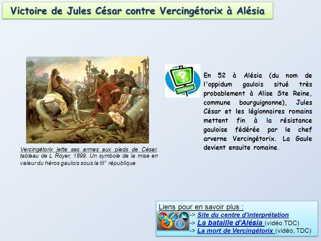 Victoire de Jules César contre Vercingétorix à Alésia
