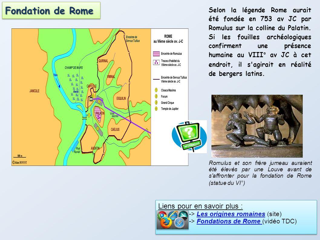 Fondation de Rome Liens pour en savoir plus :
