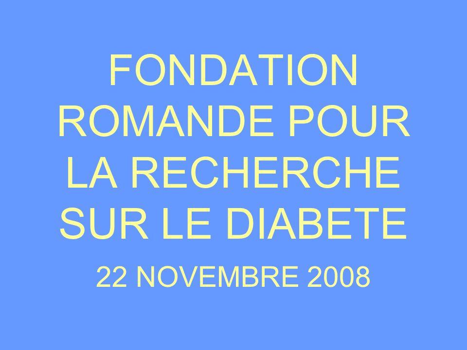 FONDATION ROMANDE POUR LA RECHERCHE SUR LE DIABETE