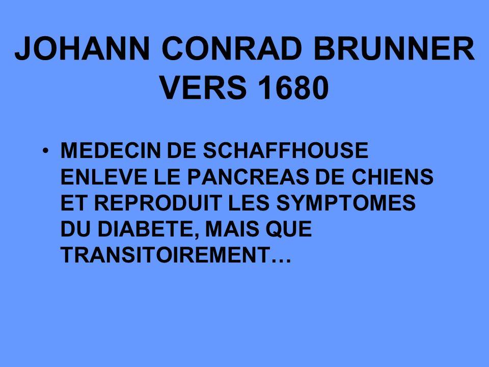 JOHANN CONRAD BRUNNER VERS 1680