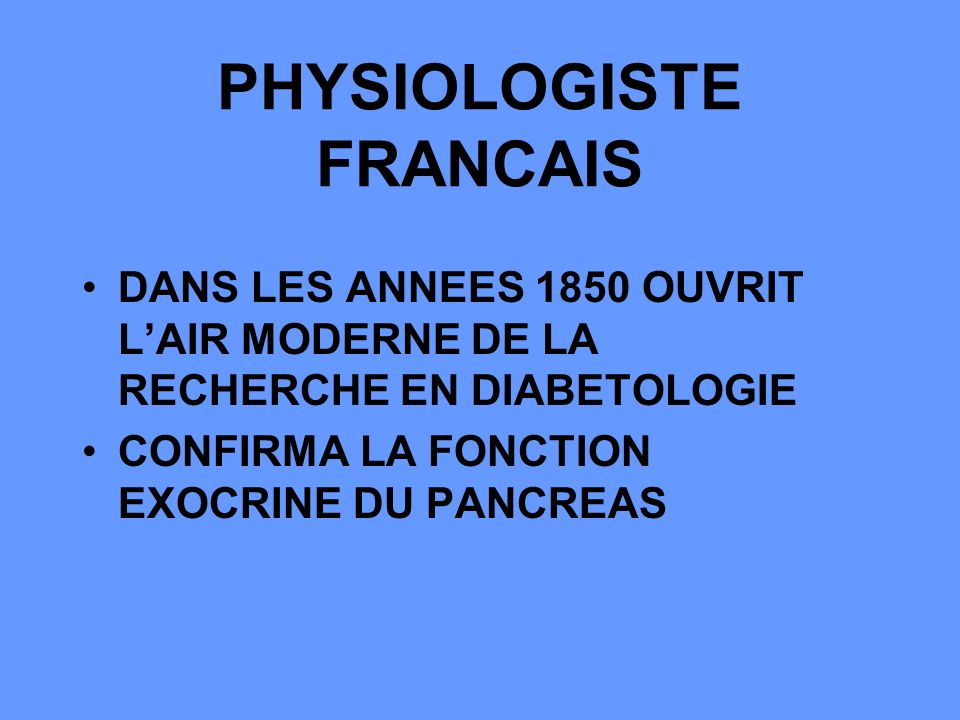 PHYSIOLOGISTE FRANCAIS