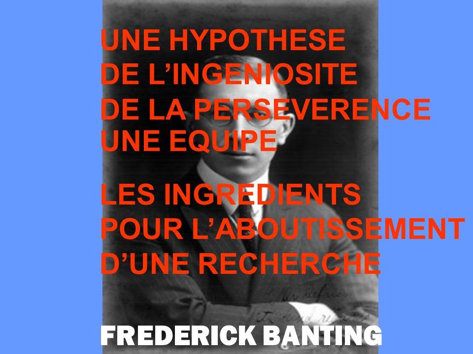 UNE HYPOTHESE DE L'INGENIOSITE. DE LA PERSEVERENCE. UNE EQUIPE. LES INGREDIENTS. POUR L'ABOUTISSEMENT.