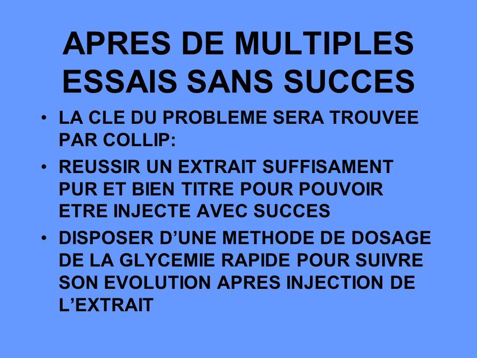 APRES DE MULTIPLES ESSAIS SANS SUCCES