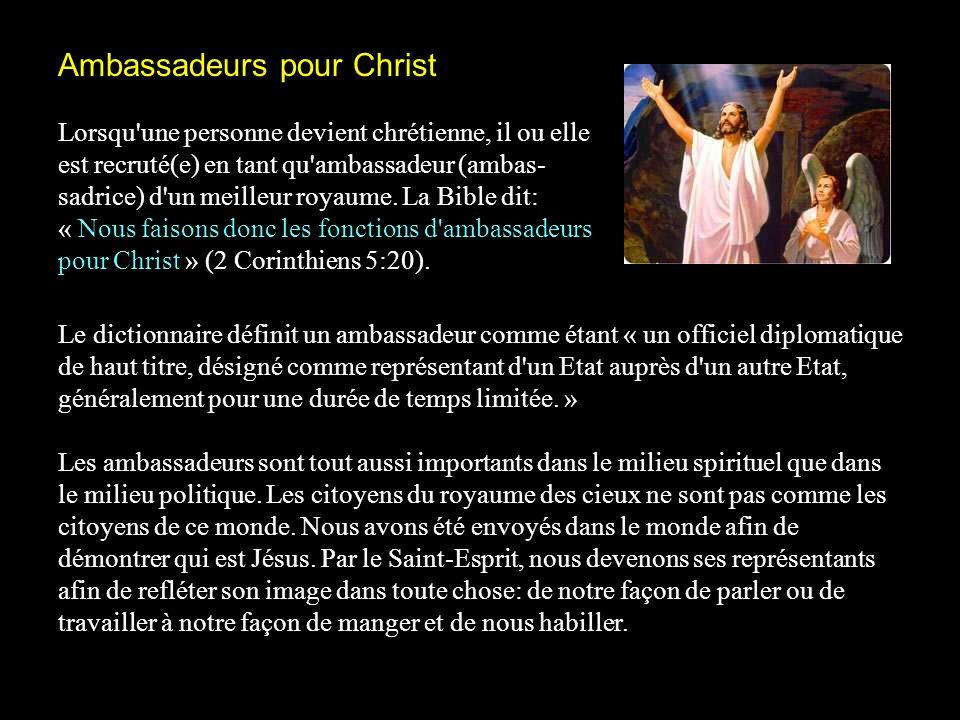 Ambassadeurs pour Christ