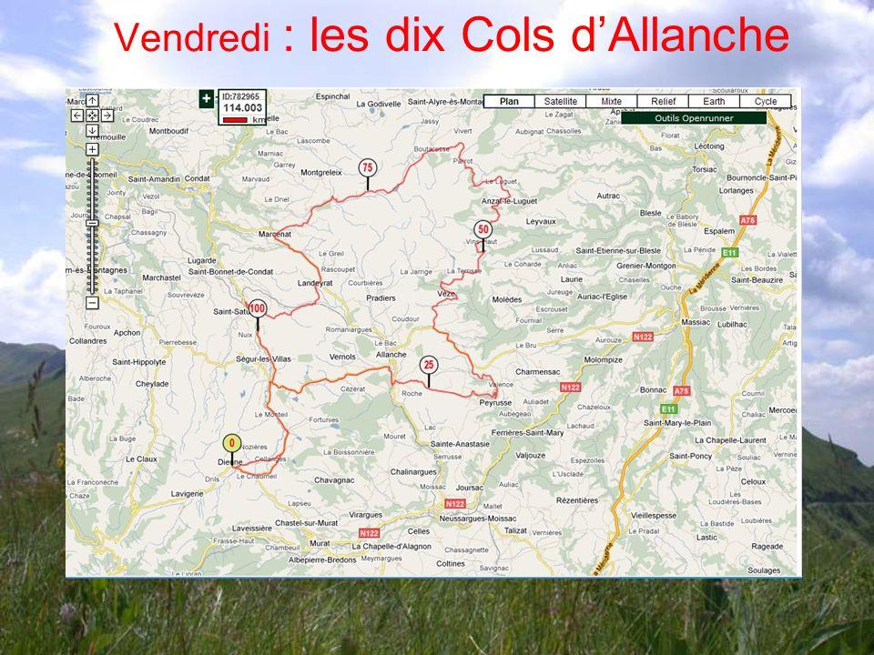 Vendredi : les dix Cols d'Allanche
